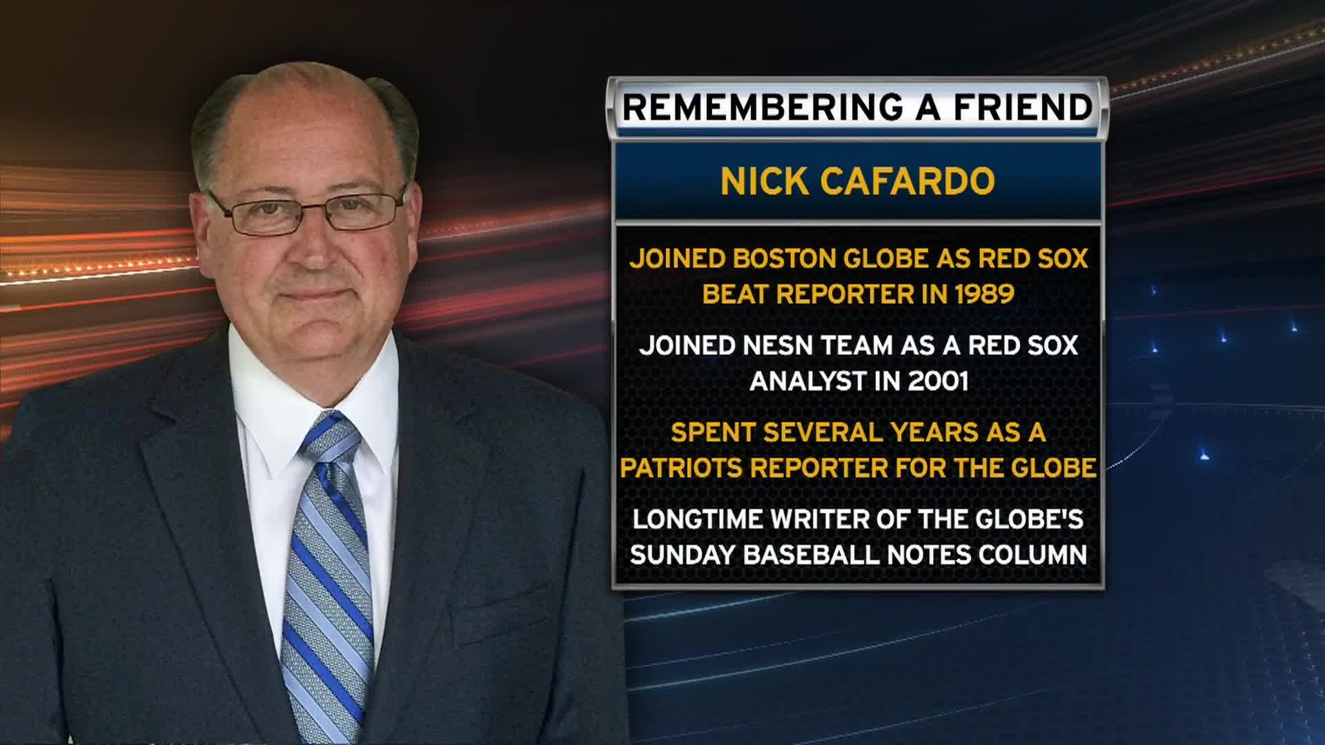 In Nick Cafardo, we lost a great teammate who was much loved